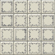 Seamless white tiles texture with geometric decoration