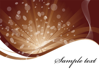 Vector background in brown color