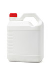 White plastic lubrication oil container poster