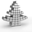 Abstract aluminum christmas tree