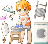 Chibi professions sets: Laundress