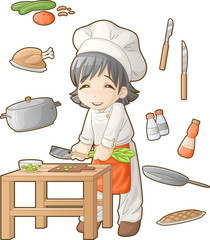 Chibi professions sets: Cook