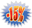 15% discount label