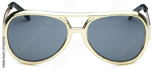 pair of elvis the king style sunglasses on a white background
