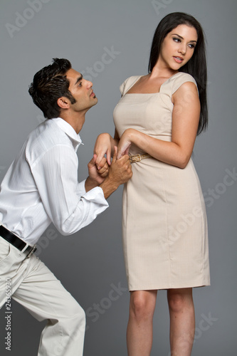 Young couple having problems
