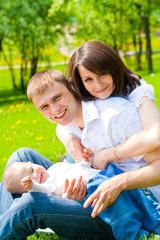 Joyful family