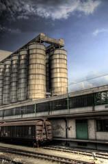 fabrik und zug gelände