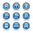 Icônes transports urbains