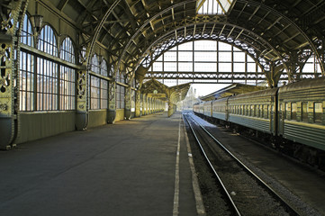 Railroad station platform