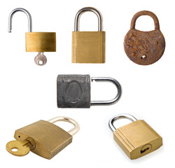 Padlock collection.