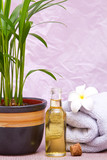 Massage oils with towels