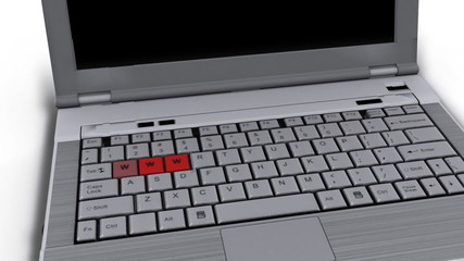 Laptop with www keys flashing - Technology - Computers