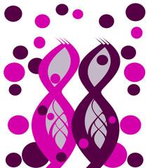 fond design style 88 rose et violet