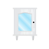 dresser, furniture, white, glass poster