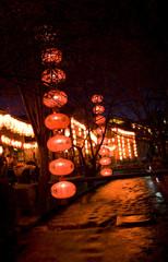 chinese night scene lijiang old town