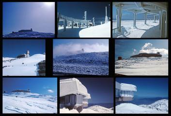 Mount Washington in winter collage