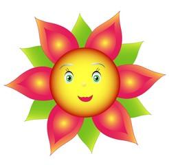 Smile colored flower sunflower