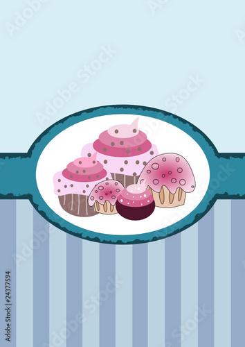 Vector: fondo para pastelería