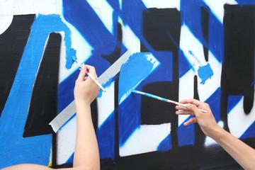 Making graffiti