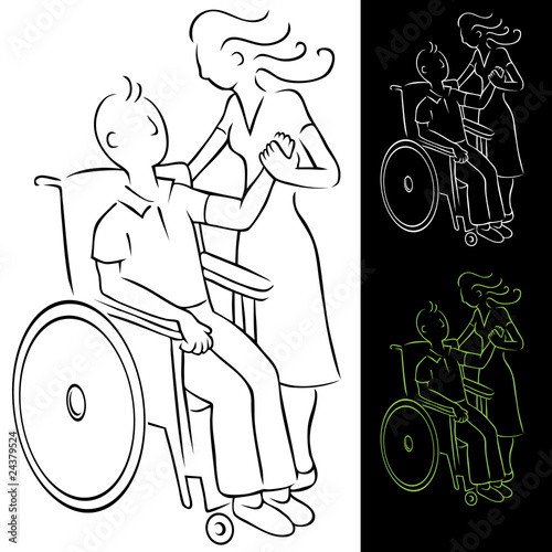 Wheelchair Disabled Man