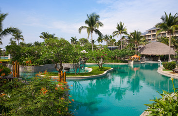 Tropical resort swimming pool