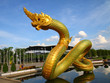 Thai dragon or king of Naga statue