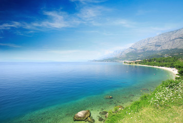 Summer view of Adriatic in Croatia