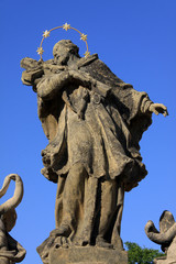 The baroque statue, Pyšely, Czech republic