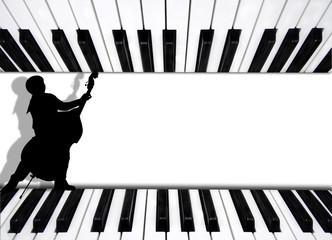 fondo musica piano y contrabajo