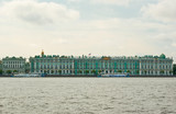 Hermitage view from Neva river poster