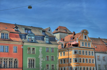 urban architecture in Regensburg, Germany