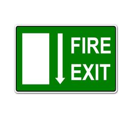 Pegatina FIRE EXIT
