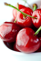 Beautiful red cherries
