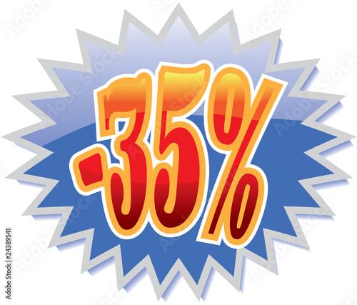35% discount label