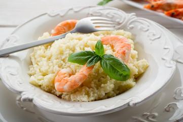 cous cous shrimp salad - insalata di cous cous gamberi