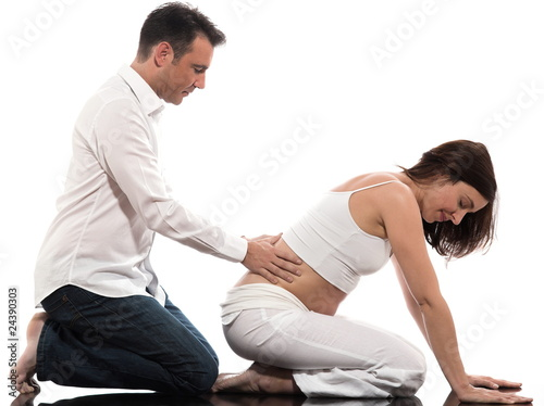 Couple Expecting Baby Massage