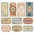 vintage labels set (vector) - 24390913