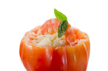 couscous shrimp on tomato - pomodoro con cous cous gamberi