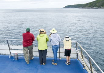 Family on a Whale Watching Tour