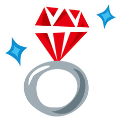 赤い宝石の指輪
