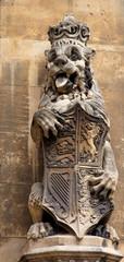 Lion. Facade detail. Houses of Parliament. London. UK.