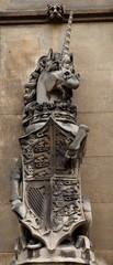 Unicorn. Facade detail. Houses of Parliament. London. UK.