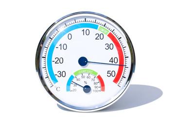 Thermometer freigestellt mit Schatten