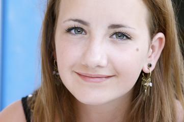 Teenage girl smile