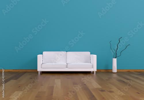 Sofa Rendering türkis