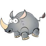 nashorn cartoon lustig tier maskottchen