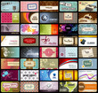 variety of 40 horizontal business cards on different topics