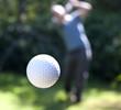 A golf ball in flight - 24403595