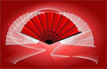 Abanico rojo