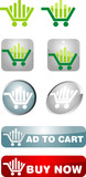 Shopping cart template - abstract graphic icon for commerce poster